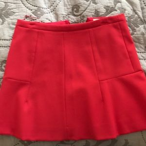 Jcrew red skirt